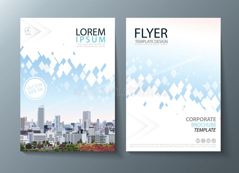 Bright future image annual report brochure, flyer design, Leaflet cover presentation abstract flat background, book cover template royalty free illustration