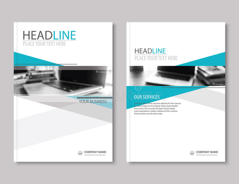Annual report brochure flyer design template. Company profile royalty free illustration