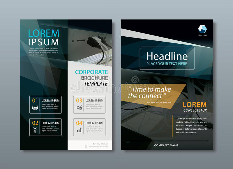 Annual report brochure flyer design template vector, Leaflet cover presentation abstract flat background, book cover. royalty free illustration