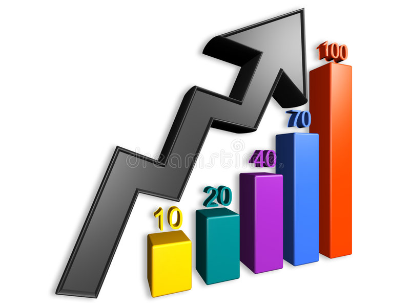 Annual Report Chart Stock Photo