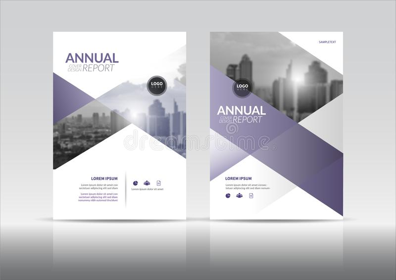 Annual report cover brochure flyer design template with abstract vector. stock illustration
