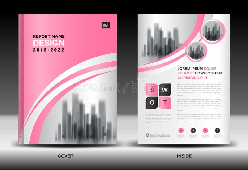 Annual report cover design, brochure flyer template, business advertisement, company profile royalty free illustration