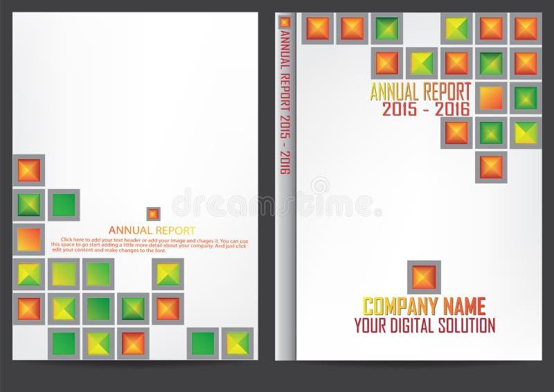 Annual report cover design. Annual report cover business design stock illustration