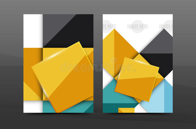 Annual report cover. Geometric abstract background. Brochure, flyer template layout, vector leaflet stock illustration
