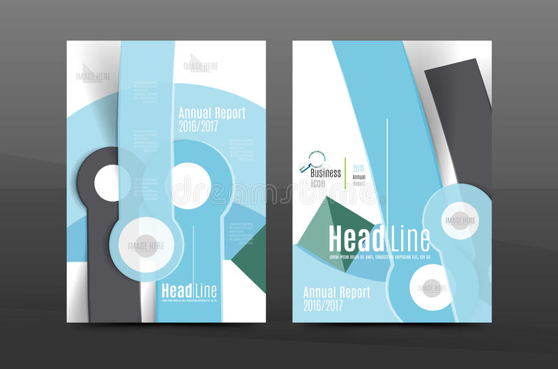 Annual report cover. Geometric abstract background. Brochure, flyer template layout, vector leaflet royalty free illustration