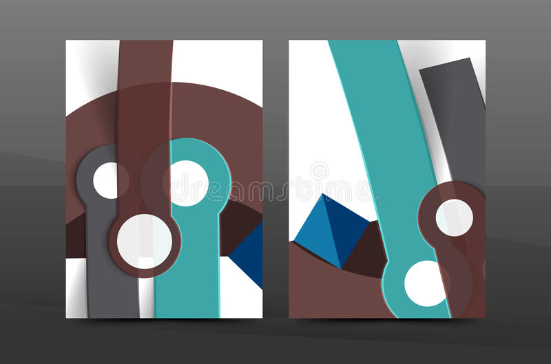 Annual report cover. Geometric abstract background. Brochure, flyer template layout, vector leaflet vector illustration