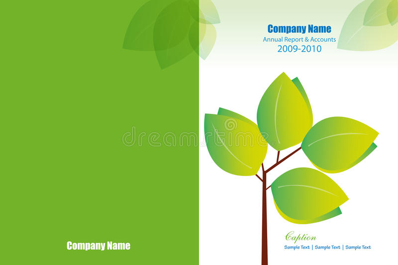 Annual Report Cover Layout Stock Photo