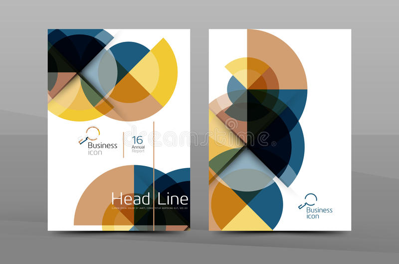 A4 annual report cover. Presentation book or magazine cover, brochure business layout vector illustration