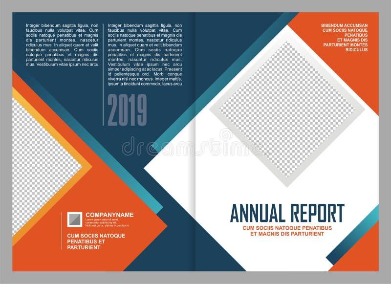 Annual Report Cover Template Design. Annual Report Leaflet Brochure template design, book cover layout design, presentation templates stock illustration