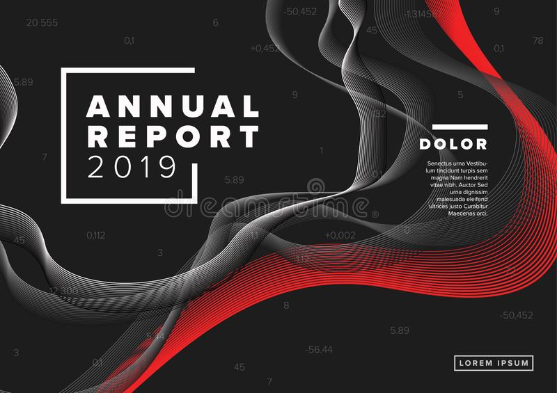 Annual report cover template royalty free illustration
