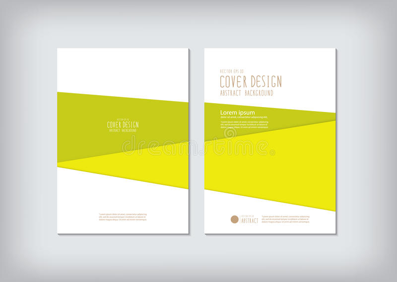 The annual report covers the business and graphic shapes. Like green bar vector vector illustration