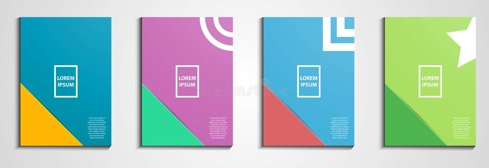 Annual report covers design. Notebook cover. Minimal geometric design. Eps10 illustration vector. Pastel color tone. Business and vector illustration