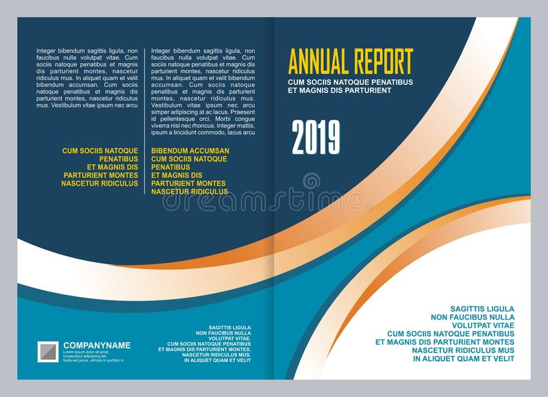 Annual Report Cover Template Design. Annual Report Leaflet Brochure template design, book cover layout design, presentation templates royalty free illustration