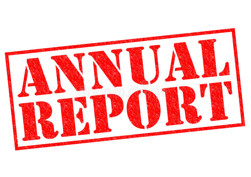 ANNUAL REPORT royalty free illustration