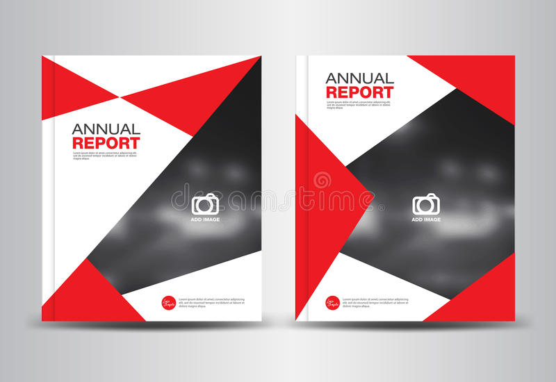 Annual Report Template Vector Illustration Stock Vector