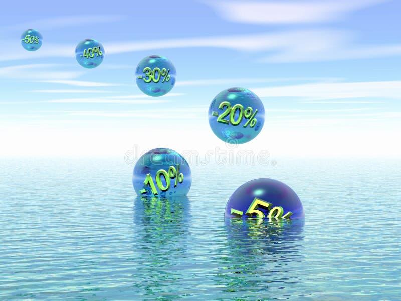 Annual sale. 3D. stock illustration