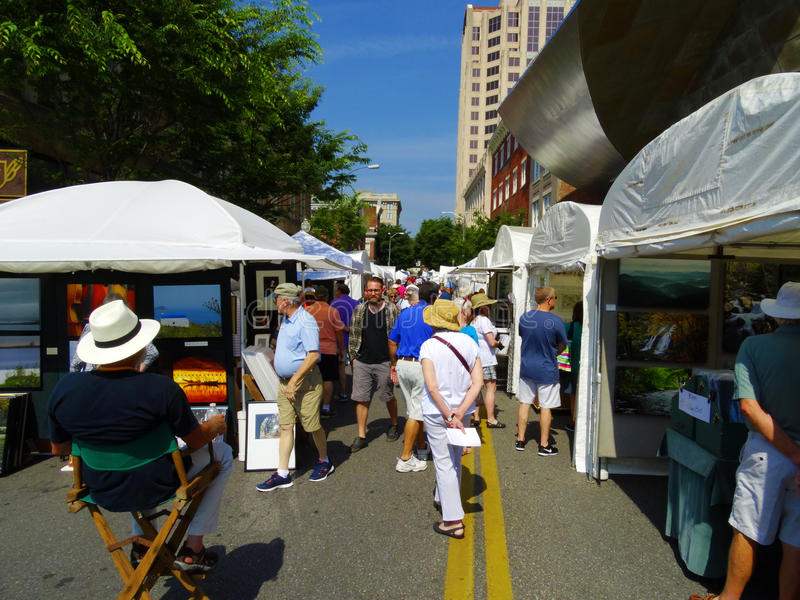 Annual Sidewalk Art Show – Roanoke, VA stock photography