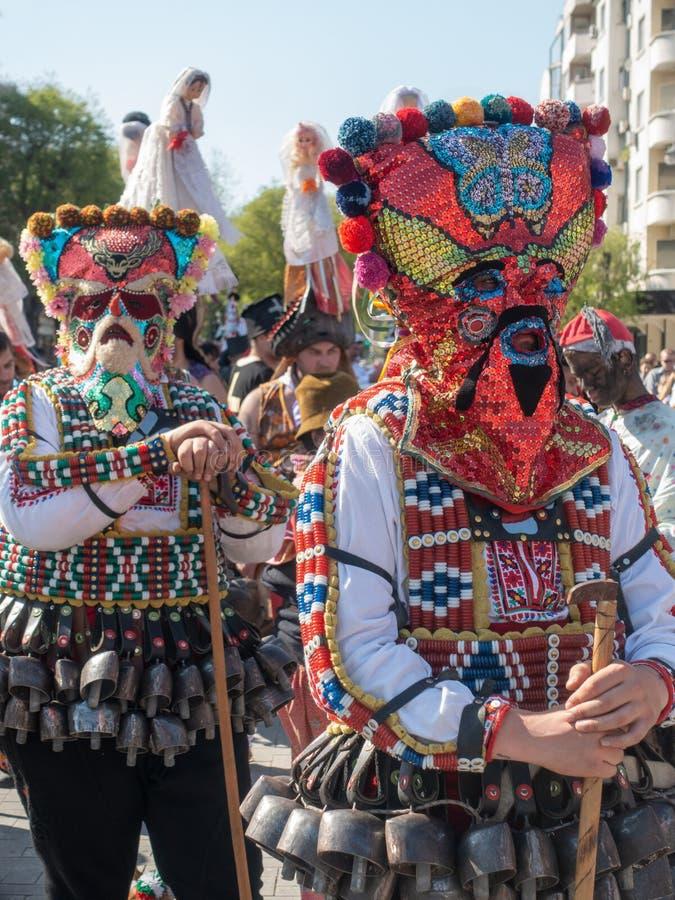 Annual Spring Carnival in Varna, Bulgaria. royalty free stock images