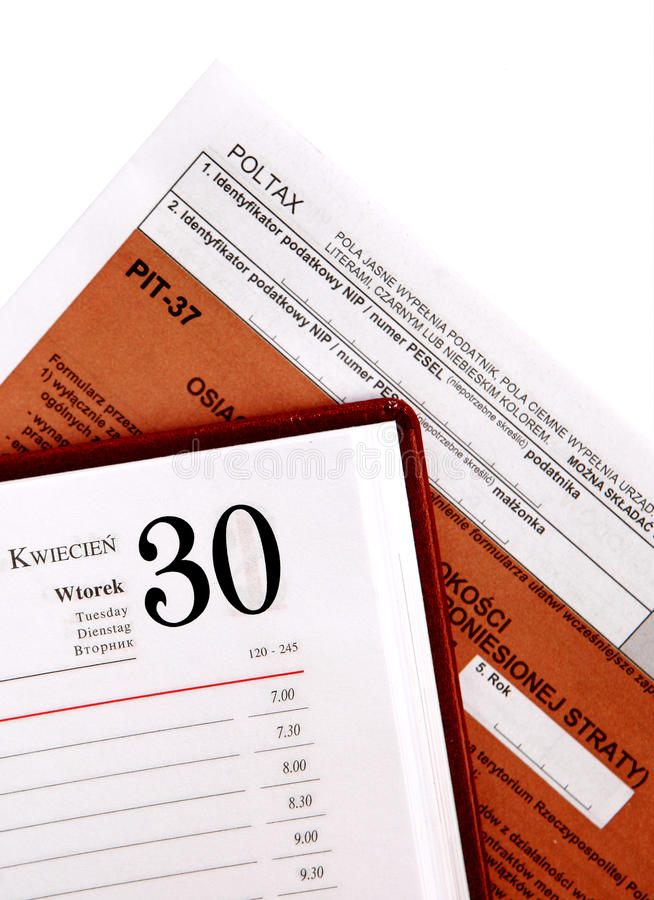 Download Annual tax , PIT stock image. Image of deadline, document - 29634309