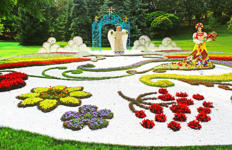 Annual traditional 59 flower exhibition stock photo
