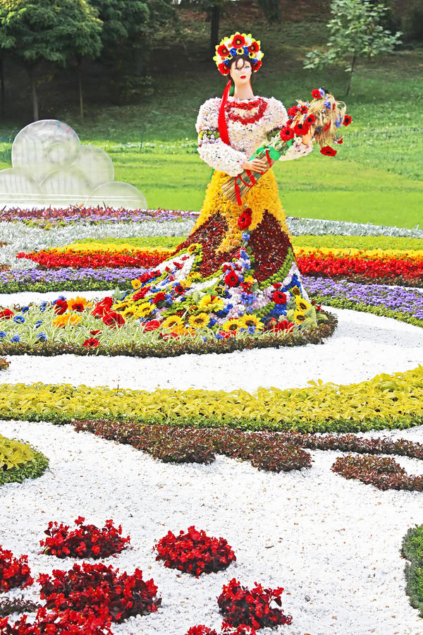 Annual traditional 59 flower exhibition royalty free stock photo