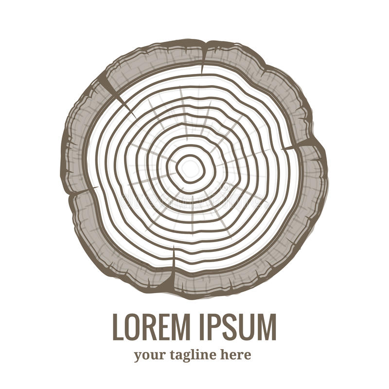 Annual tree growth rings logo icon royalty free illustration