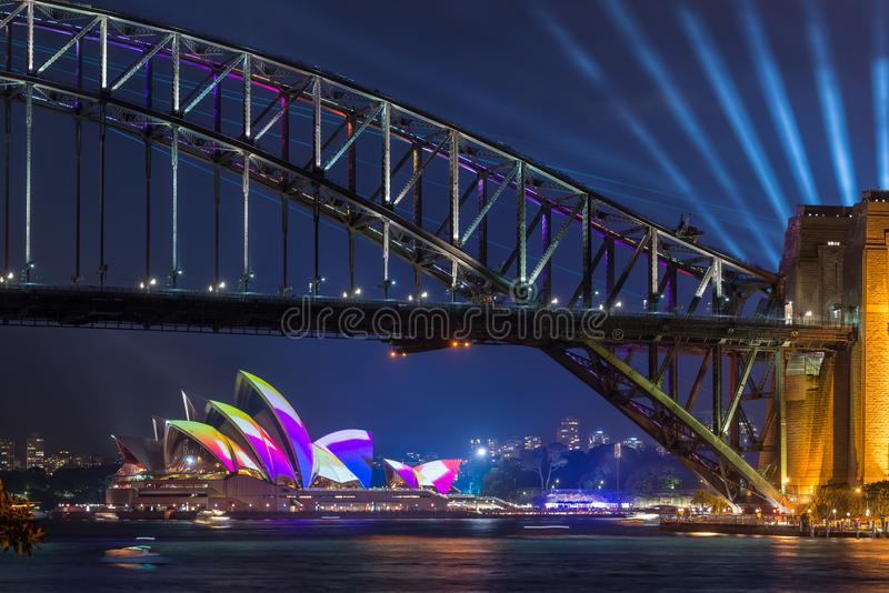 The annual Vivid Festival Sydney stock photo