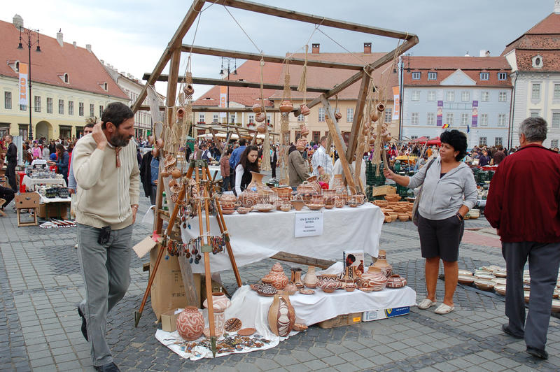 Annually pottery market in Sibiu 2010 royalty free stock photography