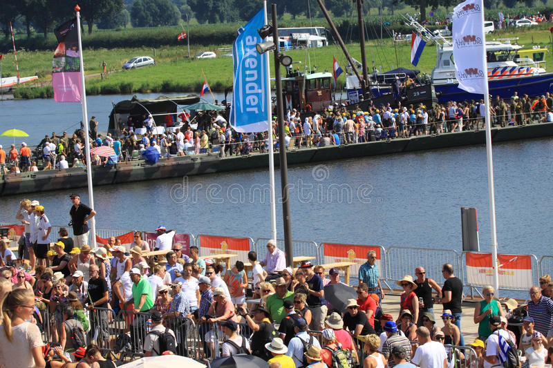 An annually recurring large walking event. Where several nationalities take part in the Netherlands royalty free stock images