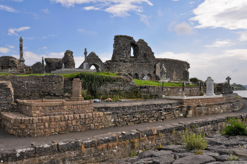 The Annuals of the Four Masters, Donegal (Ireland). The Annuals of the Four Masters, Donegal Abbey Ruins (Ireland royalty free stock photo