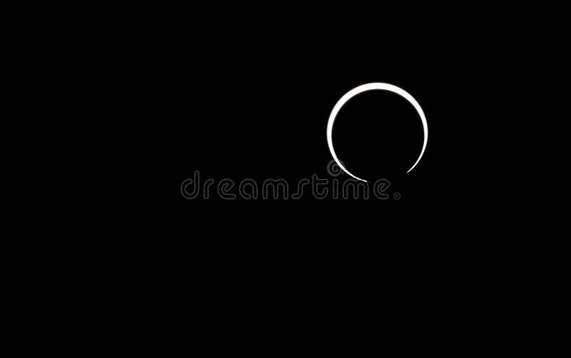 Annular solar eclipse in johor bahru royalty free stock photography