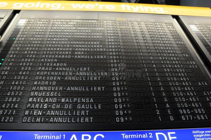 Annulation d'aéroport photo stock