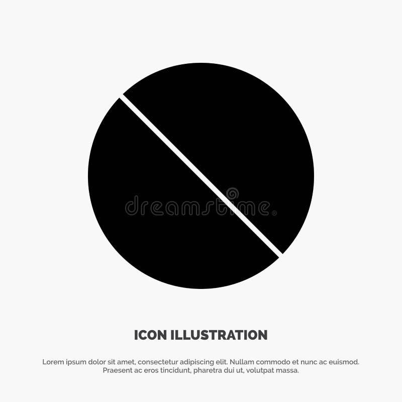 Annulation, interdite, non, vecteur solide interdit d'icône de Glyph illustration de vecteur