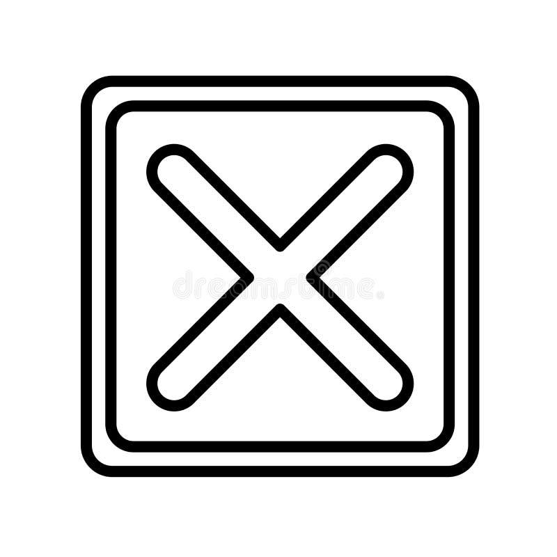 Annuleer pictogramvector op witte achtergrond wordt geïsoleerd, annuleer teken, l dat stock illustratie