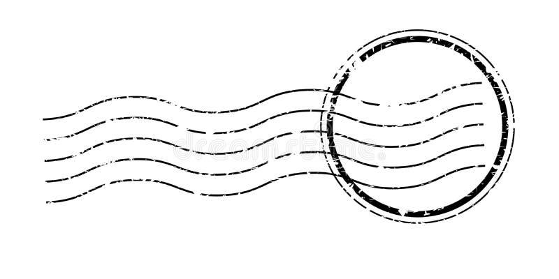 Annullering för tappningportostämpel royaltyfri illustrationer