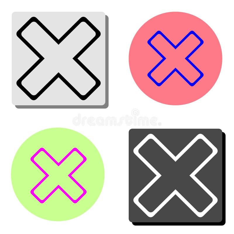 annullering Plan vektorsymbol royaltyfri illustrationer