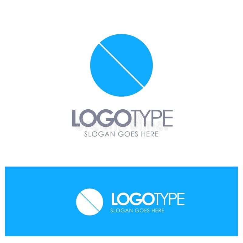 Annullering som är förbjuden, inte, förbjuden blå fast logo med stället för tagline royaltyfri illustrationer