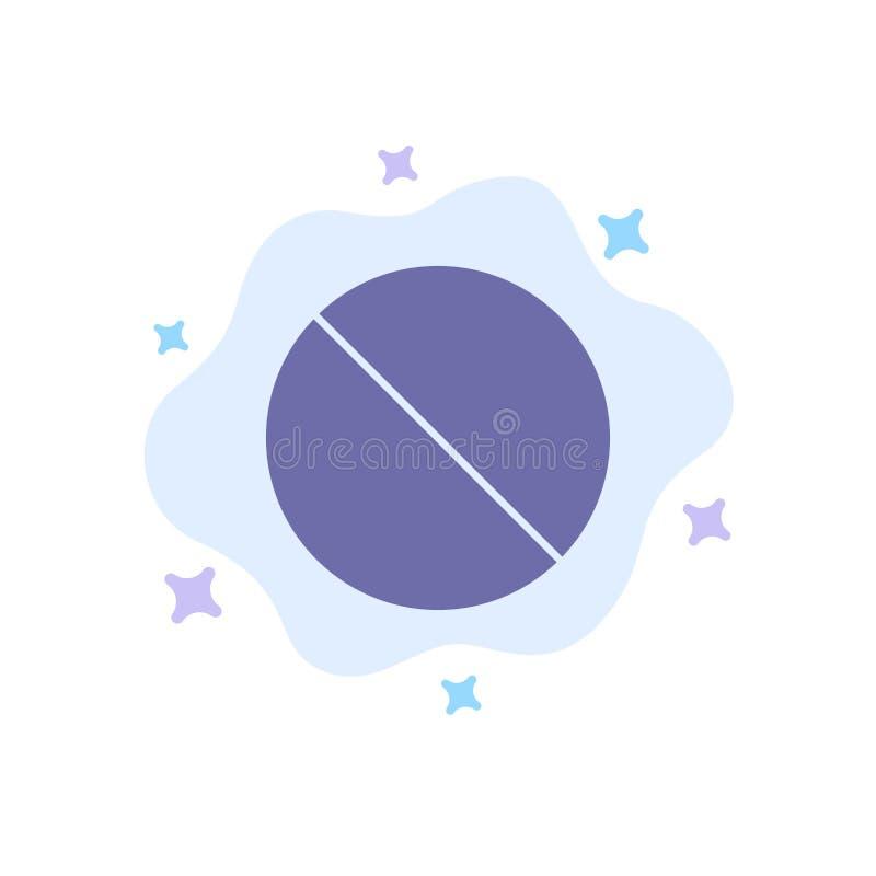 Annullering som är förbjuden, inte, förbjuden blå symbol på abstrakt molnbakgrund vektor illustrationer