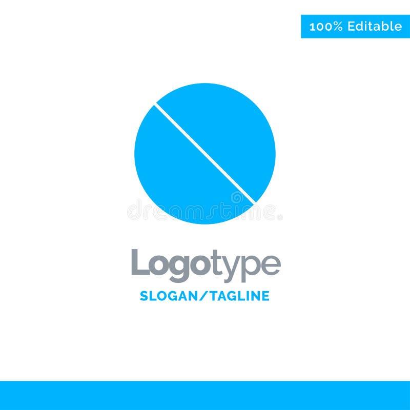 Annullering som är förbjuden, inte, förbjudna blåa fasta Logo Template St?lle f?r Tagline vektor illustrationer