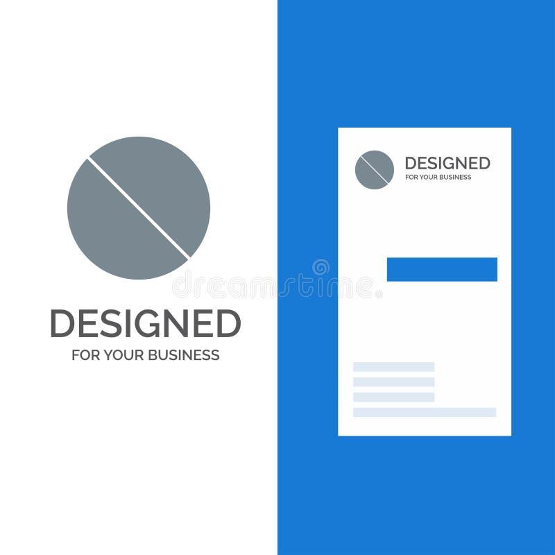 Annullering som är förbjuden, inte, förbjudna Grey Logo Design och mall för affärskort vektor illustrationer