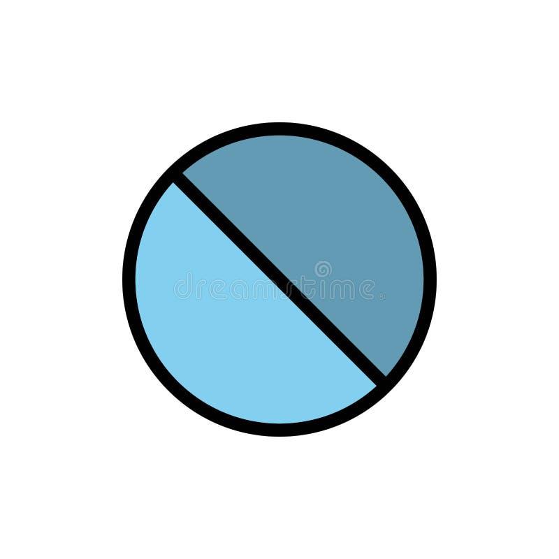 Annullering som är förbjuden, inte, förbjuden plan färgsymbol Mall för vektorsymbolsbaner vektor illustrationer