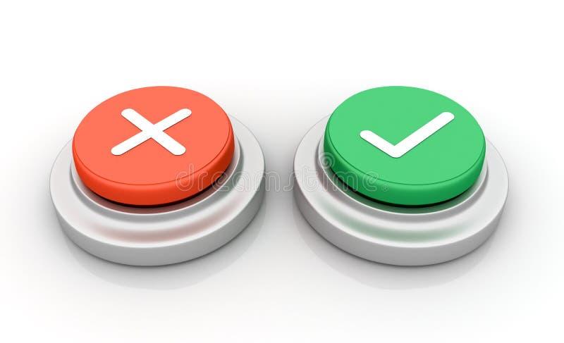 Annulli approvano i bottoni illustrazione di stock