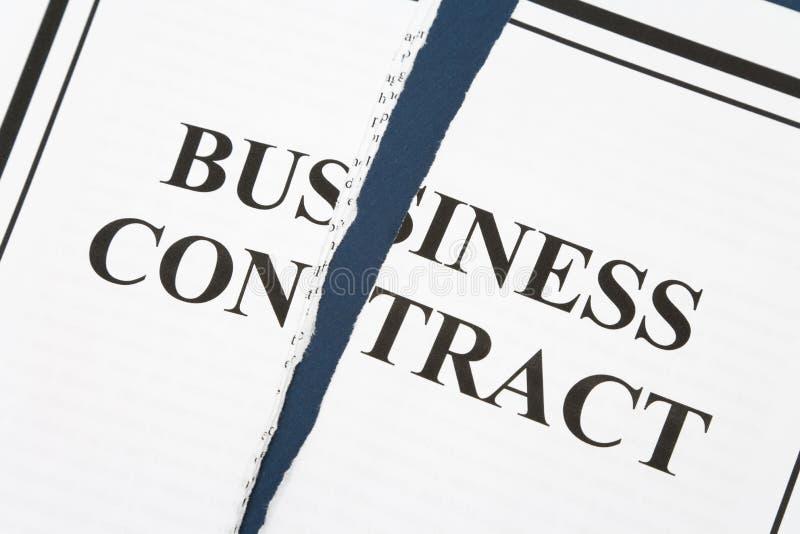 Annulli il contratto di affari immagine stock libera da diritti