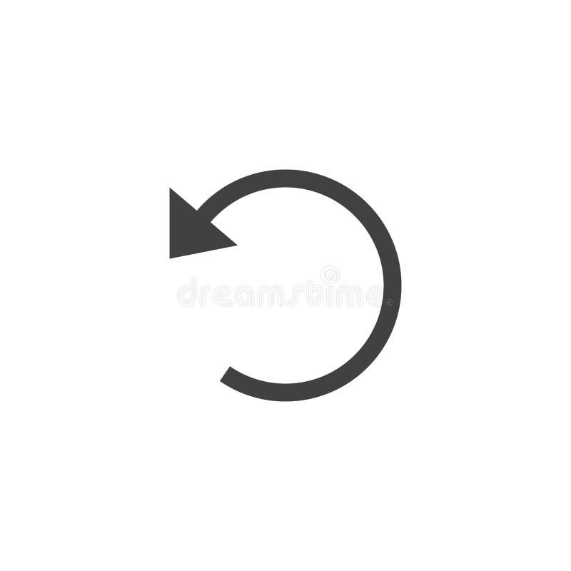 Download Annullieren Sie Ikone, Feste Logoillustration Der Wiederherstellung, Piktogramm-ISO Stock Abbildung - Illustration von getrennt, fest: 90235098