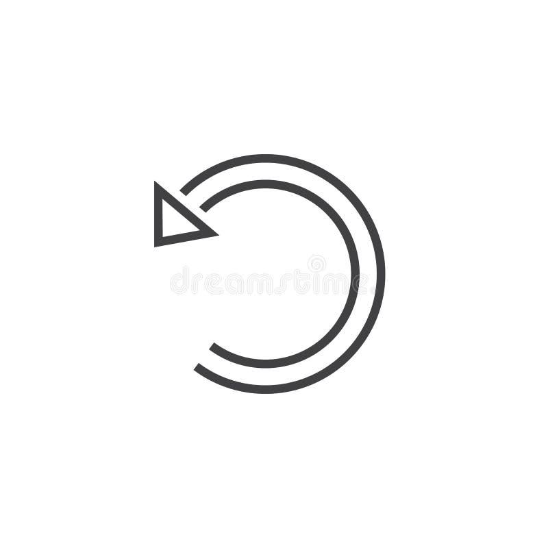 Download Annullieren Sie Linie Ikone, Die Wiederherstellungsentwurfs-Logoillustration, Linear Stock Abbildung - Illustration von pictogram, umreiß: 90235096