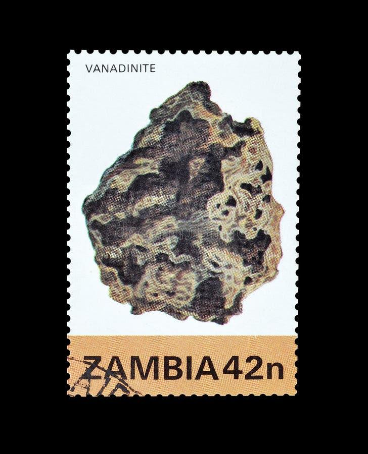 Annullierte Briefmarke gedruckt durch Sambia stockfotos
