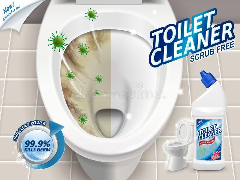 Annunci del pulitore della toilette illustrazione di stock