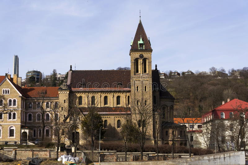 Annunciation εκκλησία Αγίου Gabriel στην Πράγα, Τσεχία στοκ φωτογραφίες με δικαίωμα ελεύθερης χρήσης