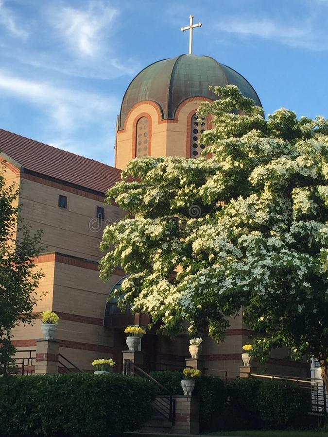 Annunciation ελληνική Ορθόδοξη Εκκλησία, Stamford, Κοννέκτικατ στοκ εικόνες