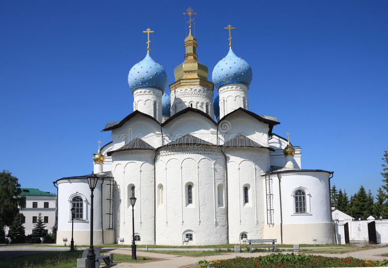 Annunciation Cathedral in Kazan Kremlin royalty free stock photos